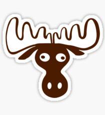 A moose head Funny shirt Sticker