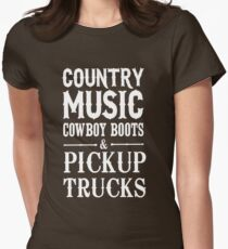 Country Music Cowboy boots and Pickup Trucks T-Shirt