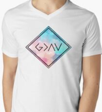 God Is Greater Than the Highs and Lows Men's V-Neck T-Shirt