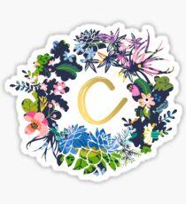 Pegatina C flores