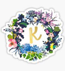 K flowers Sticker