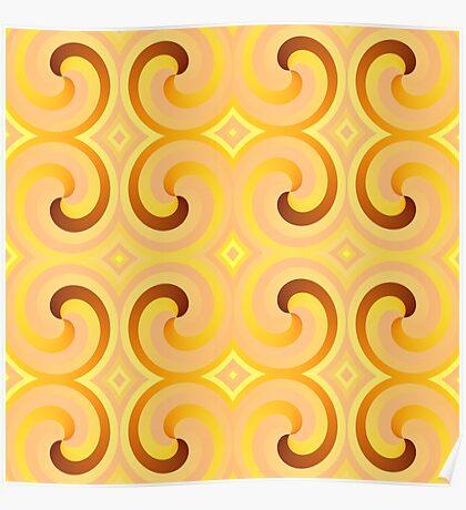 Swirls & Curls by Julie Everhart Poster
