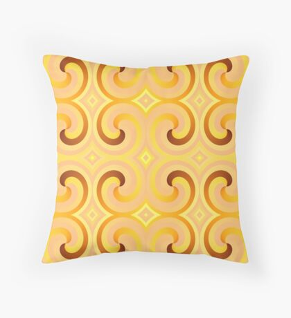 Swirls & Curls by Julie Everhart Throw Pillow