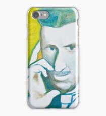 The Nikolai Tesla in green blue in oil painting! iPhone Case/Skin