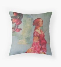 The Queen of  Roses Throw Pillow