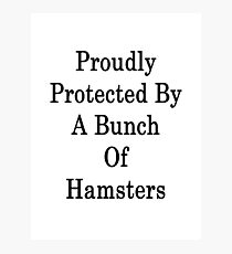 Proudly Protected By A Bunch Of Hamsters Photographic Print