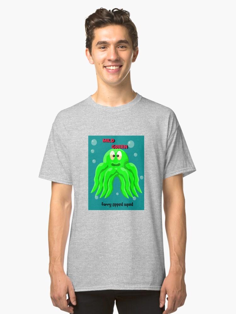 Mild green hairy lipped squid