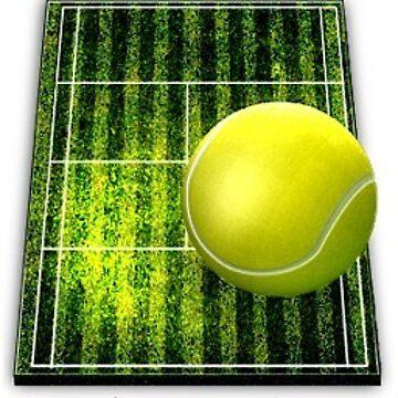 Tennis ball on court  by Ethanj2