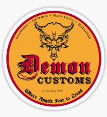 Demon Customs Hot Rod Sticker