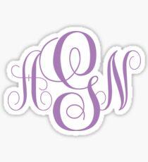 Customized Monogram Sticker