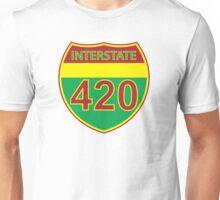 Interstate 420 Rasta Rastafarian Unisex T-Shirt