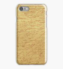Retro Oak Wood Grain Pattern iPhone Case/Skin