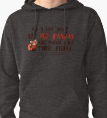 Red Pandas Cute Design for animal lovers Pullover Hoodie