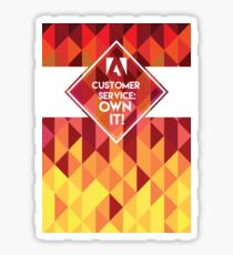 Customer Service Sticker