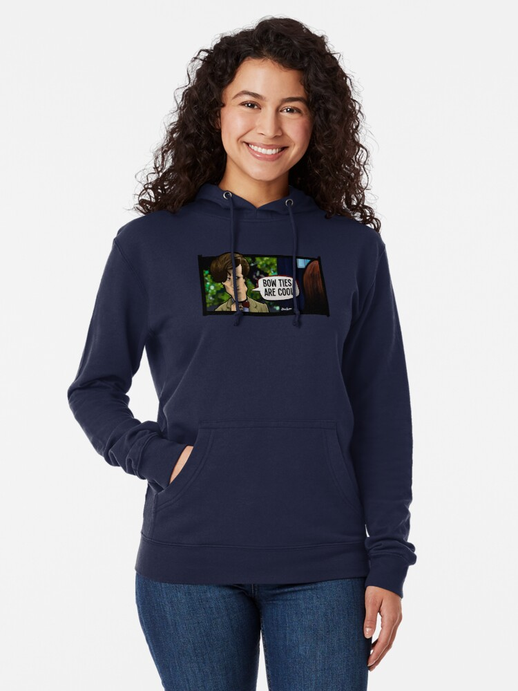 Alternate view of Bow Ties Are Cool Lightweight Hoodie