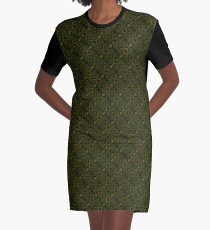 Juniper Green Swirl Graphic T-Shirt Dress