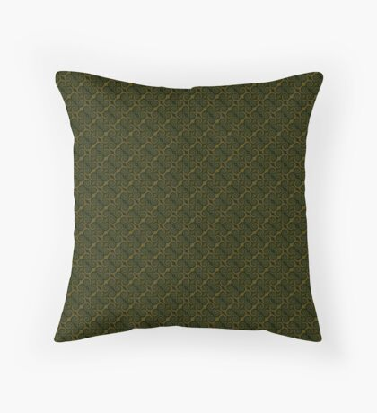Juniper Green Swirl Throw Pillow