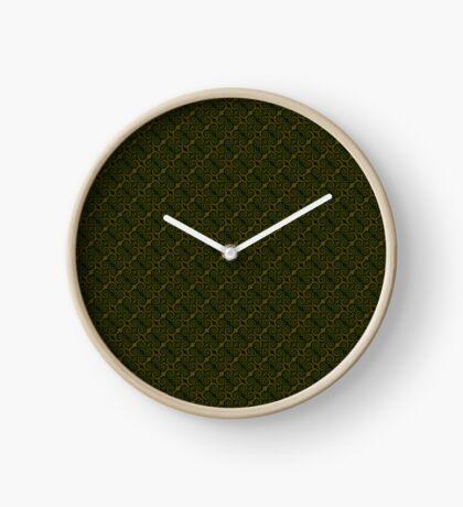 Juniper Green Swirl Clock