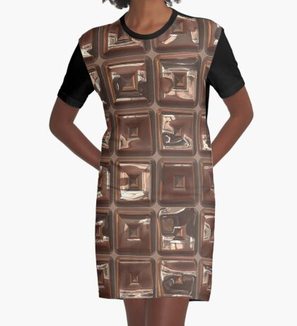 Golden Cubes Design by Julie Everhart Graphic T-Shirt Dress