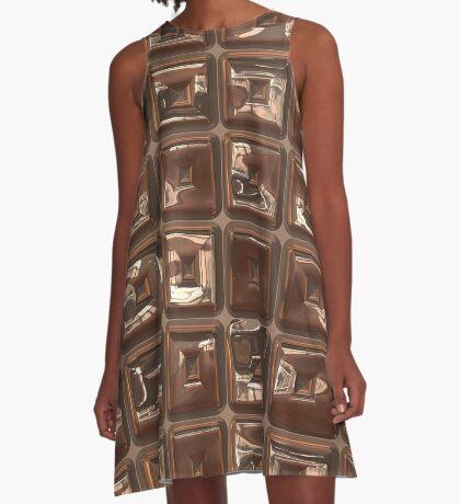 Golden Cubes Design by Julie Everhart A-Line Dress