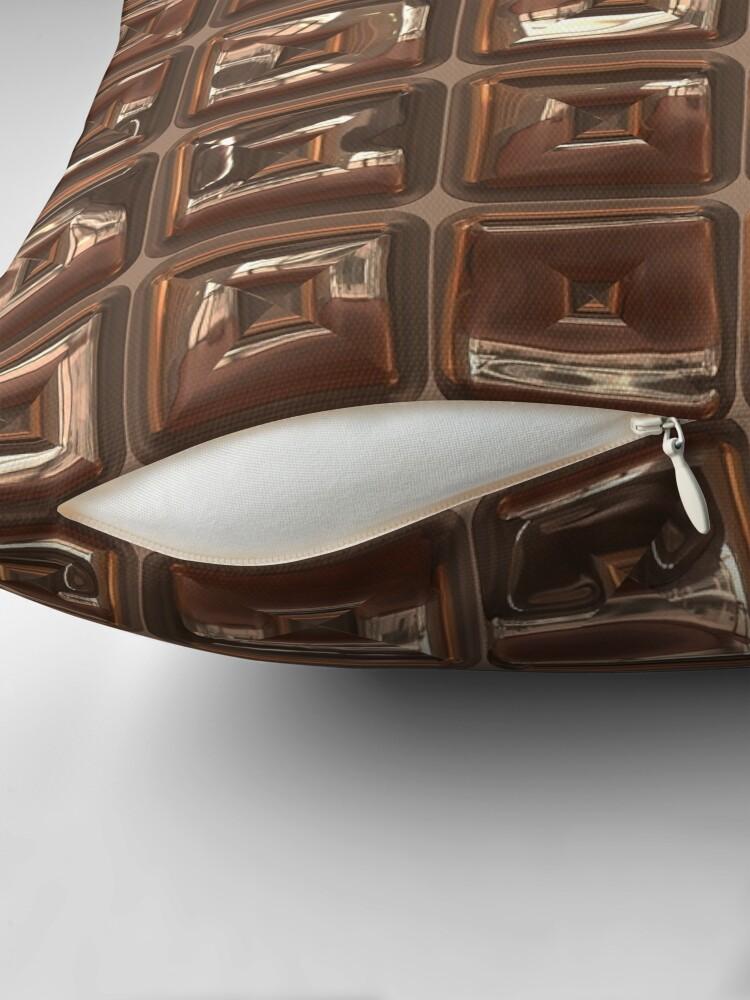 Alternate view of Golden Cubes Design by Julie Everhart Throw Pillow