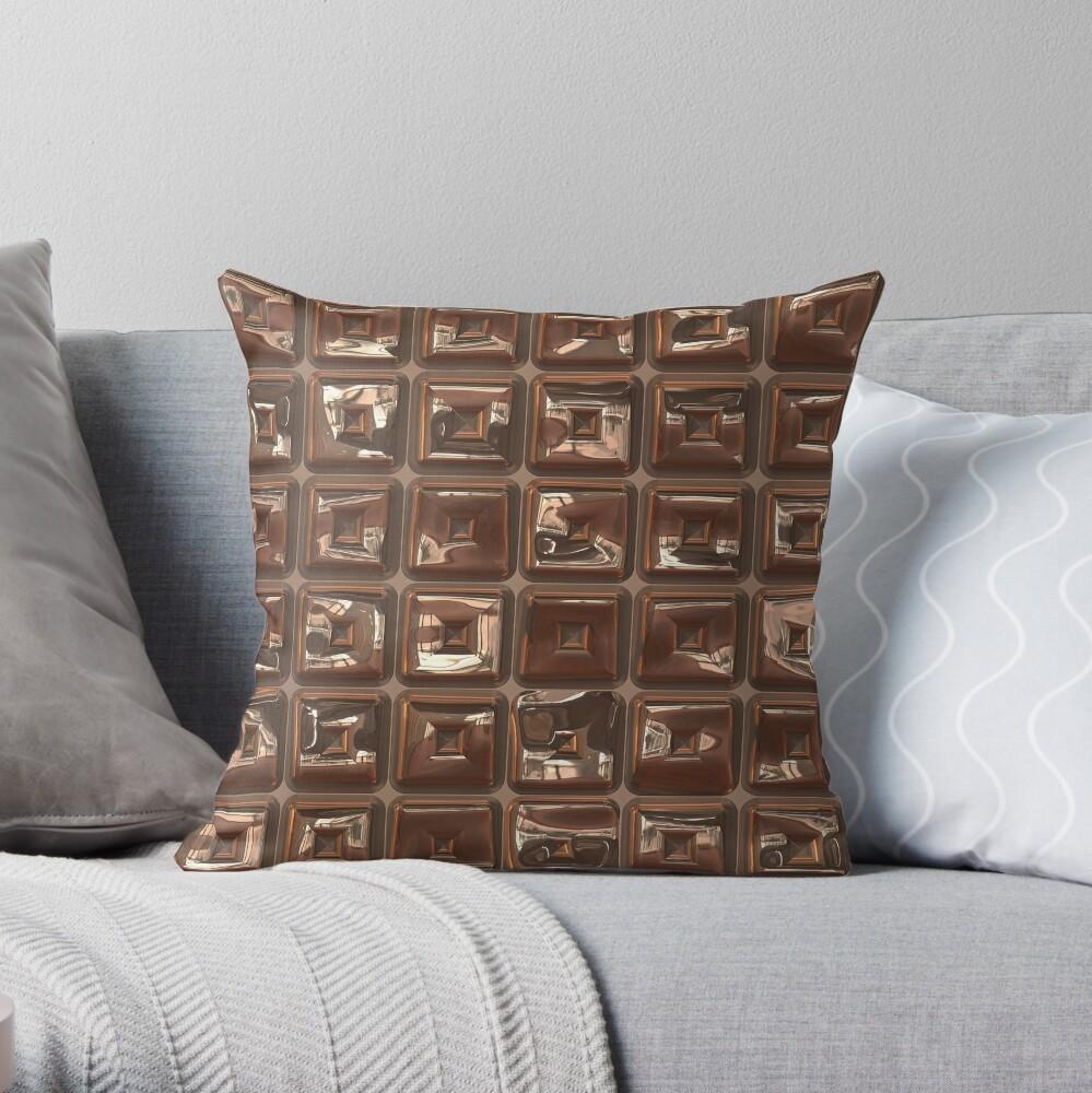 Golden Cubes Design by Julie Everhart Throw Pillow