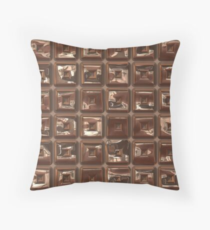 Golden Cubes Design by Julie Everhart Throw Pillow