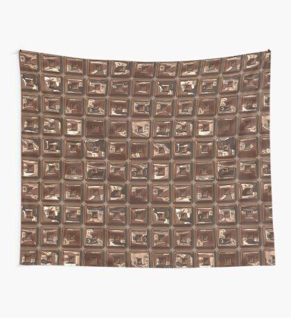 Golden Cubes Design by Julie Everhart Wall Tapestry