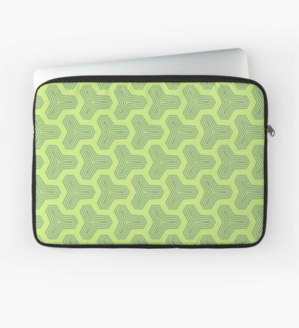 Retro Green Design by Julie Everhart Laptop Sleeve