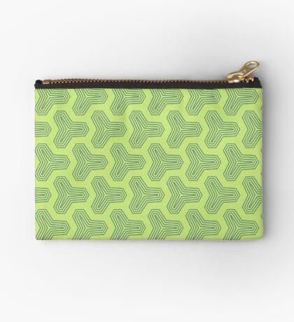 Retro Green Design by Julie Everhart Zipper Pouch