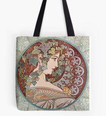 Green Ivy Goddess Tote Bag