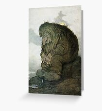 Resting Troll  Greeting Card