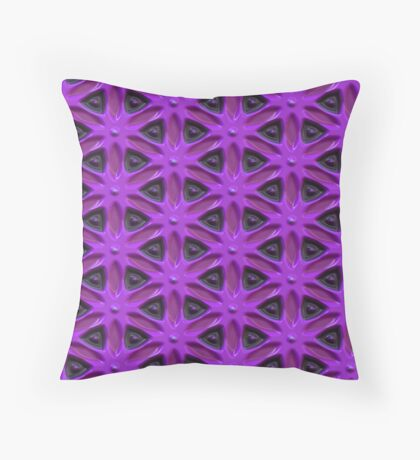 Passion for Purple Design by Julie Everhart Throw Pillow