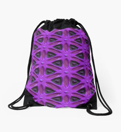 Passion for Purple Design by Julie Everhart Drawstring Bag
