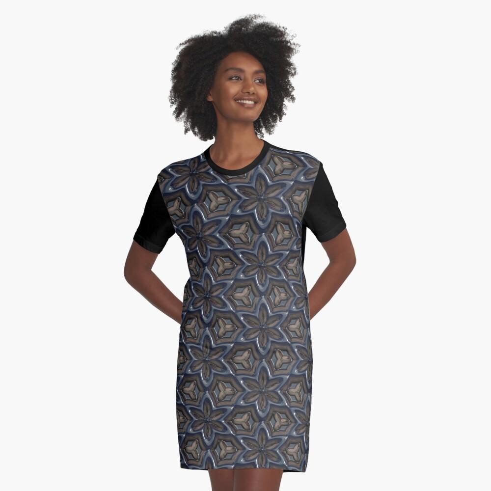Metallic Flowers by Julie Everhart Graphic T-Shirt Dress