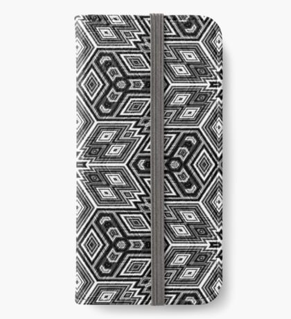 Black and White Cubes by Julie Everhart iPhone Wallet