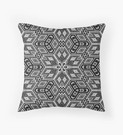 Black and White Cubes by Julie Everhart Throw Pillow