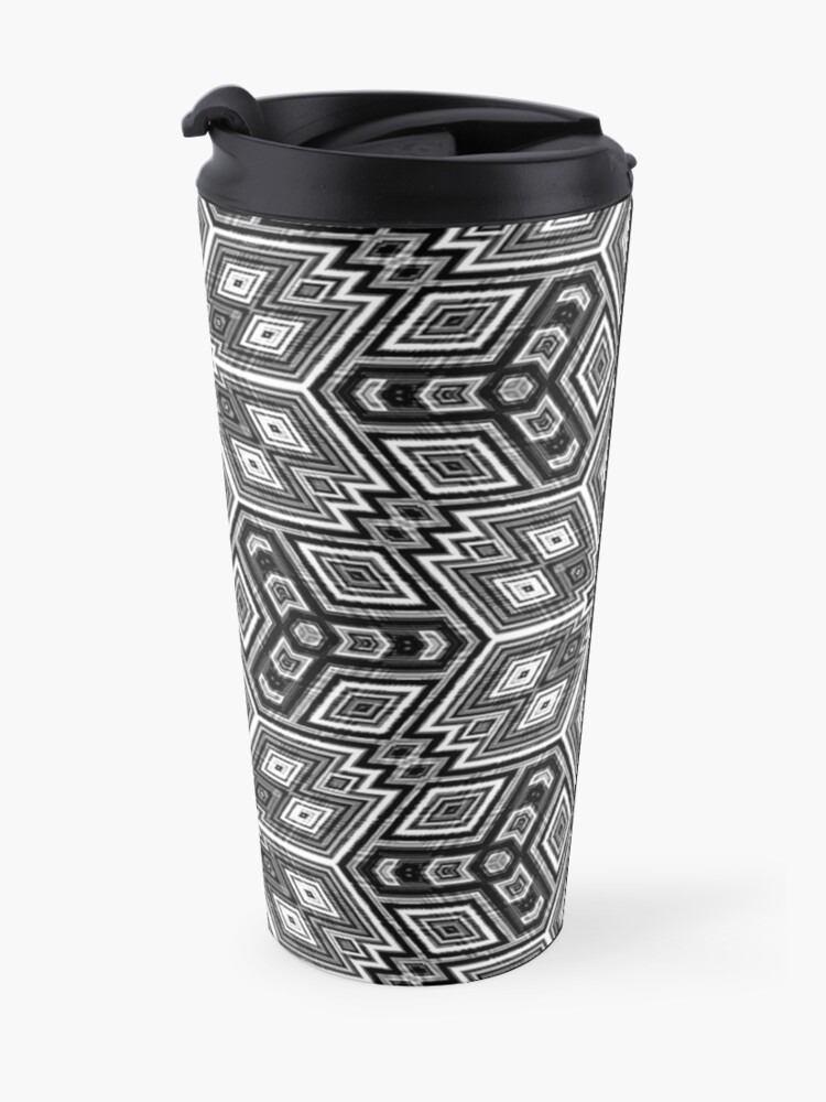 Alternate view of Black and White Cubes by Julie Everhart Travel Mug