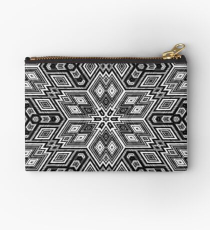 Black and White Cubes by Julie Everhart Zipper Pouch