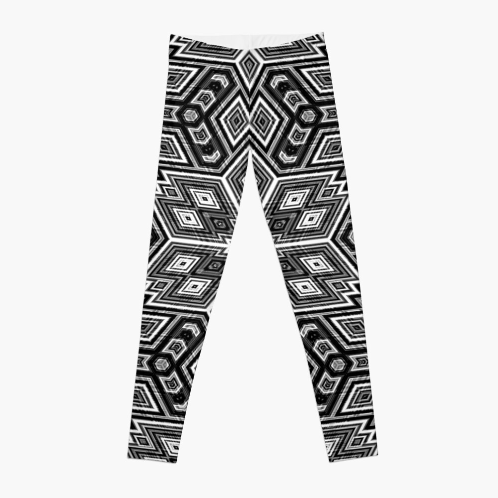 Black and White Cubes by Julie Everhart Leggings