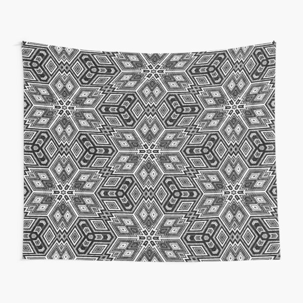 Black and White Cubes by Julie Everhart Tapestry