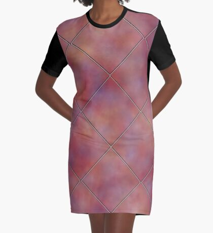 Muted Mauve Tile by Julie Everhart Graphic T-Shirt Dress