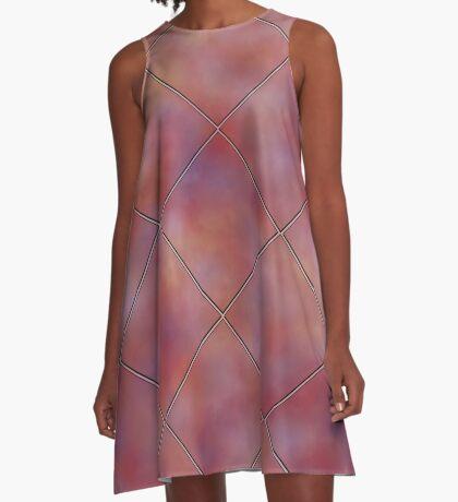 Muted Mauve Tile by Julie Everhart A-Line Dress