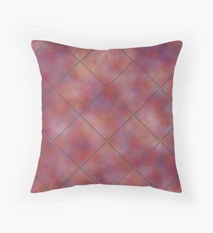 Muted Mauve Tile by Julie Everhart Throw Pillow