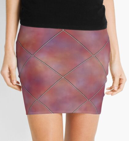 Muted Mauve Tile by Julie Everhart Mini Skirt