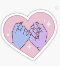 Pinky Promise - Purple Blue Sticker