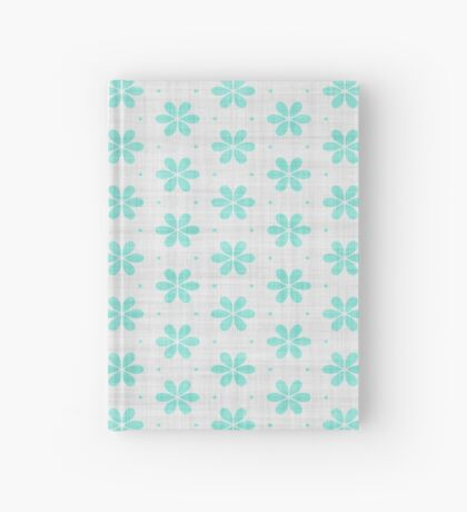 Turquoise  Flower Design by Julie Everhart Hardcover Journal