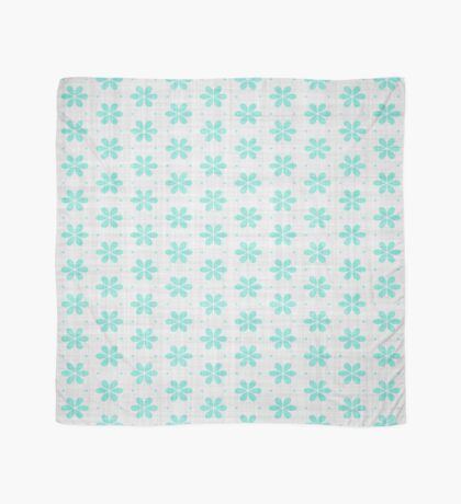 Turquoise  Flower Design by Julie Everhart Scarf
