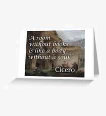 Cicero Books Philosophical Quote Greeting Card
