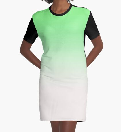 Ombre in Green by Julie Everhart Graphic T-Shirt Dress